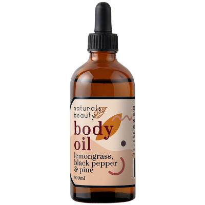 Naturals Beauty Lemongrass, Black Pepper & Pine Body Oil