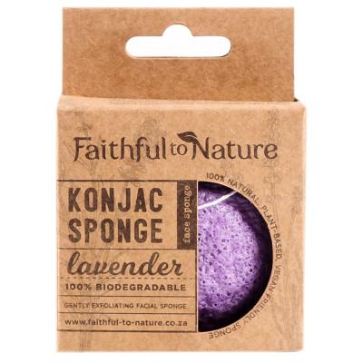 Faithful to Nature Konjac Sponge - Lavender