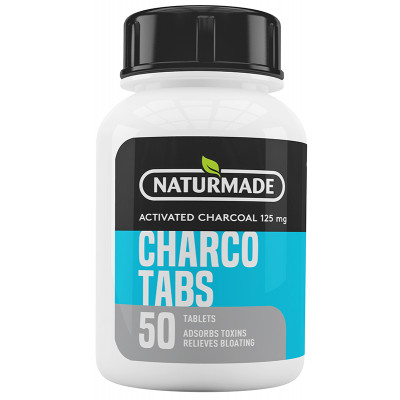 Naturmade Activated Charcoal Tabs 125mg