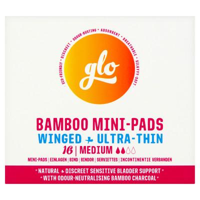 Glo Bamboo Mini-Pads - Winged + Ultra Thin
