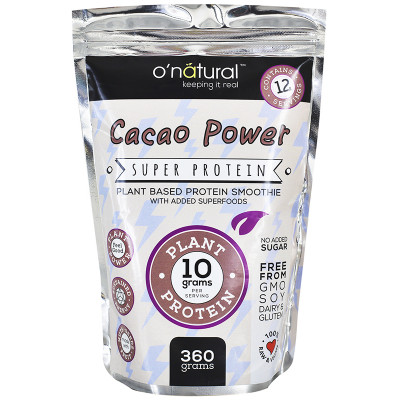 O'Natural Cacao Power Protein Smoothie Mix - 360g