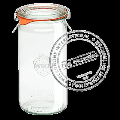 Weck Cylindrical Glass Jar