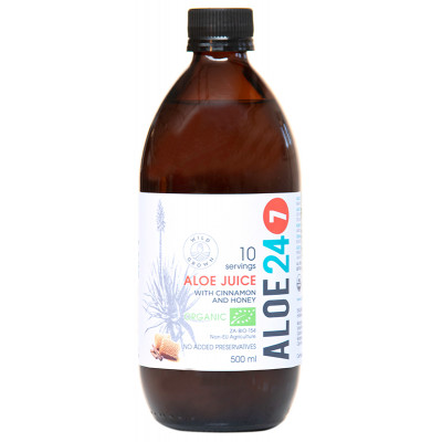 Organic Aloe 24/7 Juice- Cinnamon and Honey