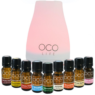 Oco Life Small White Diffuser with Complete Range of Oils
