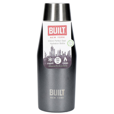 Built Perfect Seal Insulated Water Bottle - 330ml - Charcoal