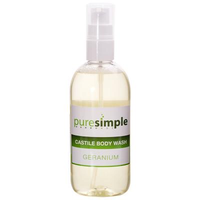 Pure Simple Geranium Castile Body Wash
