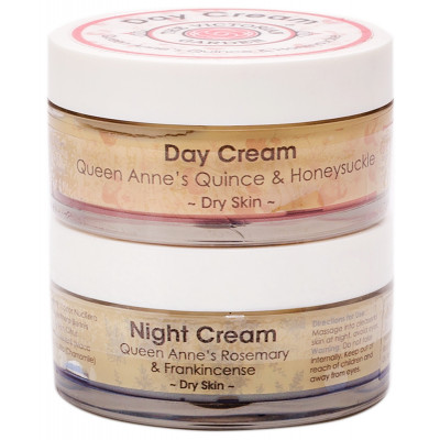 Quince & Honeysuckle Day Cream & Rosemary & Frankincense Night Cream - Value Pack