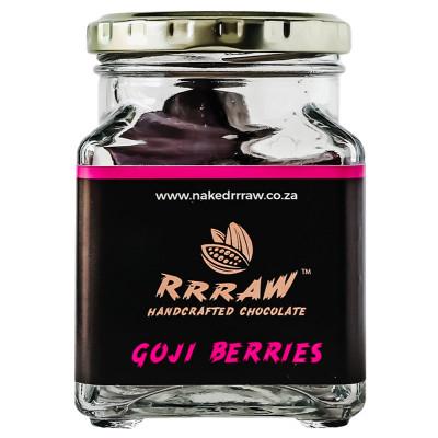 Rrraw Chocolate 80% Dark Goji Berries Jar