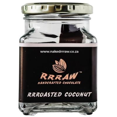Rrraw Chocolate 80% Dark Roasted Coconut Flakes Jar