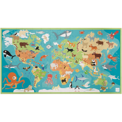 Scratch 100 Piece Puzzle - Animals Of The World