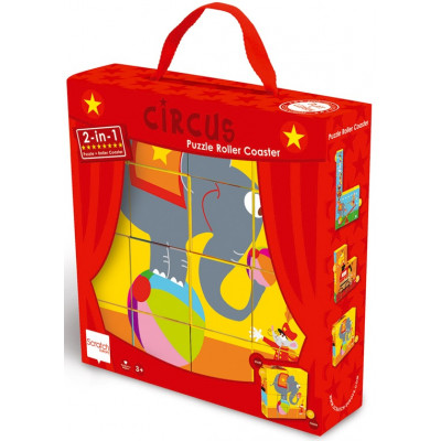 Scratch Pre-School Puzzle And Roller Coaster Circus