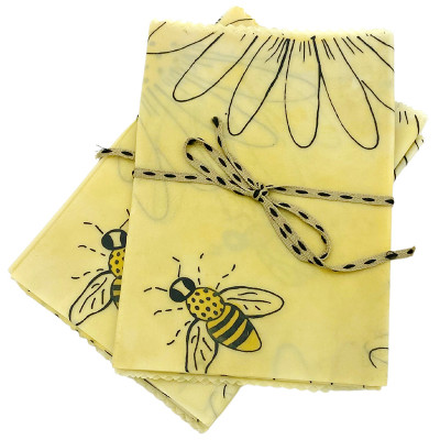 Simply Bee Beeswax Wraps 3 Pack