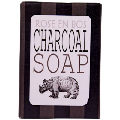 Rose en Bos Activated Charcoal Bar Soap
