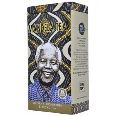 Mandela Tea Organic Honeybush and Buchu Tea in a Tin