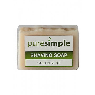 Pure Simple Shaving Soap - Green Mint