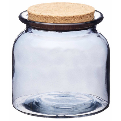 KitchenCraft Natural Elements Smoky Glass Storage Jar