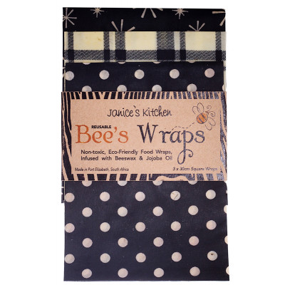 Janice's Kitchen Bee's Wraps - Black