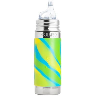 Pura Stainless Steel 260ml Insulated Sippy Bottle - Aqua Swirl