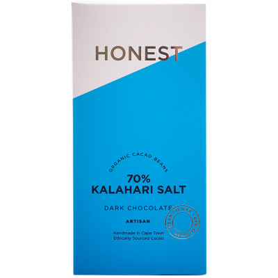 Honest Chocolate Slab 70% - Kalahari Salt