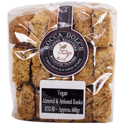 Quarry Lake Foods vegan Almond & Aniseed Rusks