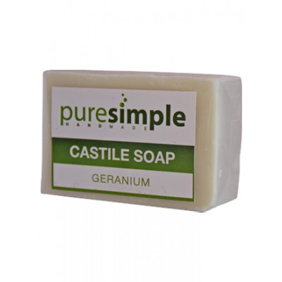 Pure Simple Geranium Castile Soap