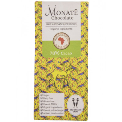 Monate Chocolate 78% Raw Cacao Bar