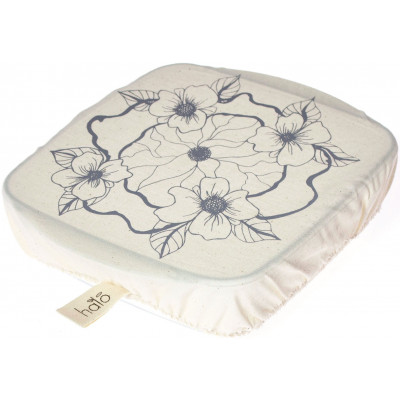 Halo Single Dish Cover Square Edible Flowers - Cool Grey