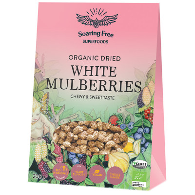 Soaring Free Superfoods Organic White Mulberries