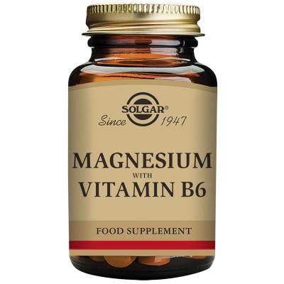 Solgar Magnesium with Vitamin B6 Tablets