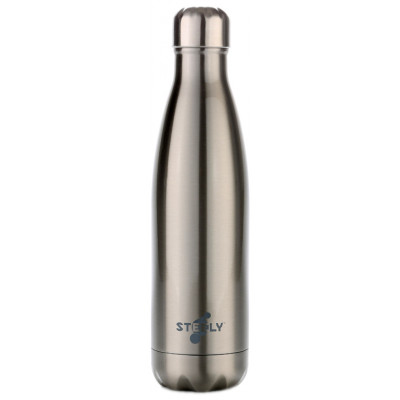 Steely Insulated Water Bottle - Silver