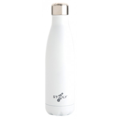 Steely Insulated Water Bottle - White