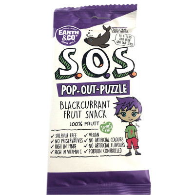 Earth & Co S.O.S. Pop-Out-Puzzle Fruit Snack - Blackcurrant
