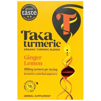 Taka Turmeric Organic Ginger and Lemon Tea