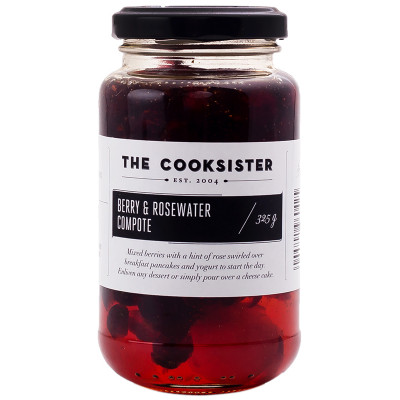 The Cooksister Berry & Rosewater Compote