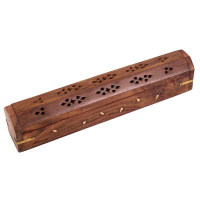 Ananta Wooden Box Incense Burner & Holder