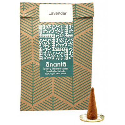 Ananta Luxury Hand Rolled Incense Cones - Lavender