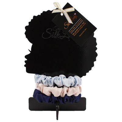 The Silk Lady Pure Silk Slim Scrunchies - Day Dream