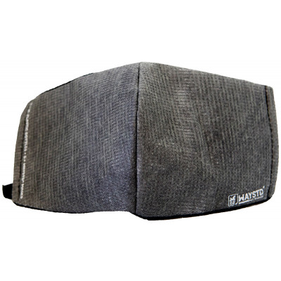 WAYSTD 95% Recycled Face Mask - Charcoal Print