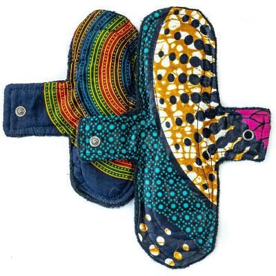 Woman-Kind Reusable Funky Fabric Pads Pack of 2 (Large & Small)