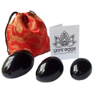 Yoni Egg Black Obsidian - Set of 3