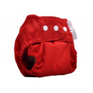 Mother Nature All in Three Bamboo Nappy (Cover + Insert Bamboo)  - Red