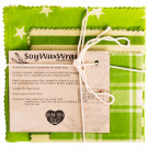 6 Degrees East Soy Wax Wraps Set of 3 - Green