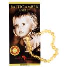Baltic Amber for Africa Baby Anklet - Lemon