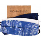 Woman-Kind Curved Fabric Face Mask - Blue Assorted