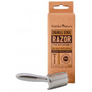 Faithful to Nature Double Edge Razor with Long Handle - 3 Piece