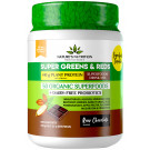 Nature's Nutrition Super Greens & Reds & Protein Chocolate - 500g