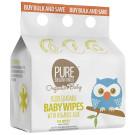 Pure Beginnings Gentle Baby Wipes with Organic Aloe, 3 packs