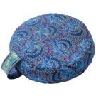 Simply Shweshwe Zafu Cushion - Blue Peacock