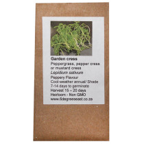 6 Degrees East Heirloom Herb Seeds - Cress - Garden Cress