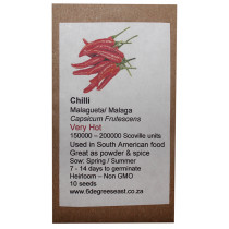 6 Degrees East Heirloom Veg Seeds - Chilli - Malagueta (Birds Eye)